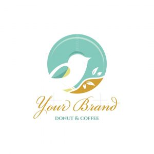 Sweet Bird Donut And Coffee Logo