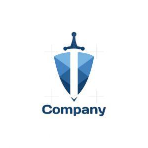 Sword Shield Symbol Logo
