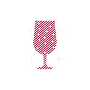 Line Art Wine Glass Logo