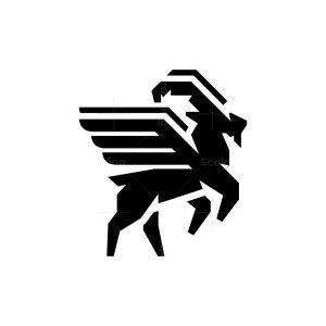 Flying Goat Logo Winged Ram Logo