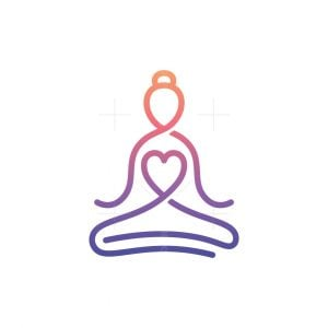 Yoga Woman Logo